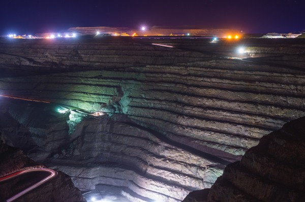 Superpit at night