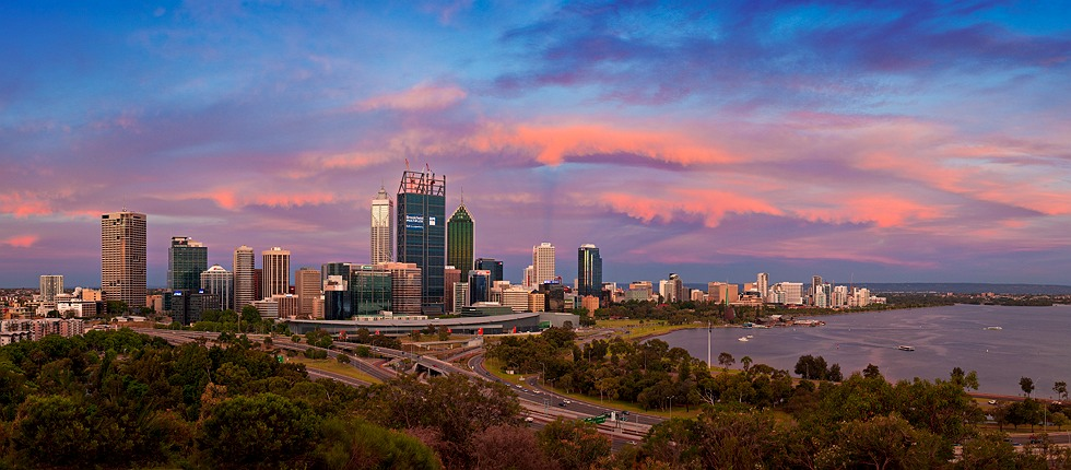 Perth City Skyline 2011 and earlier