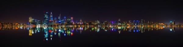 Perth City panorama at night