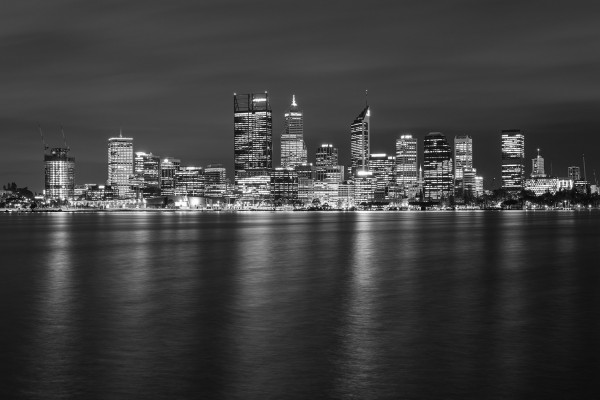 perth-city-skyline-2016-black-and-white