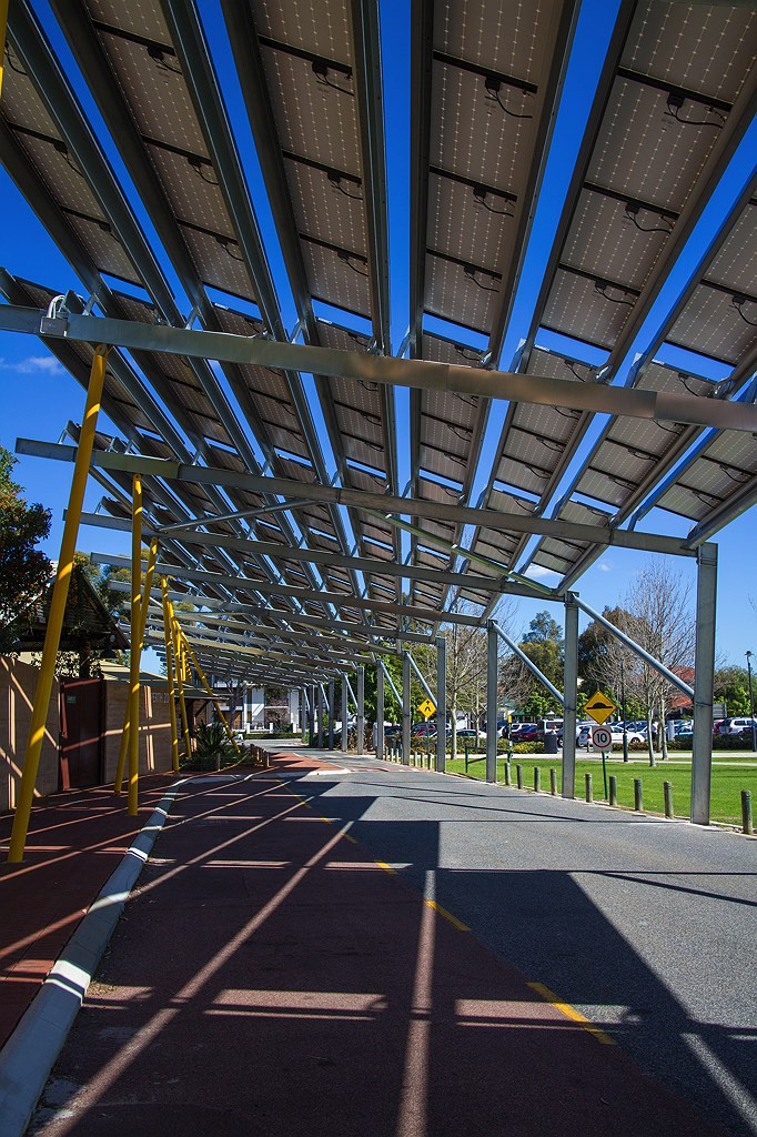 Perth Zoo Solar Panel Shades Rob Dose Landscape And