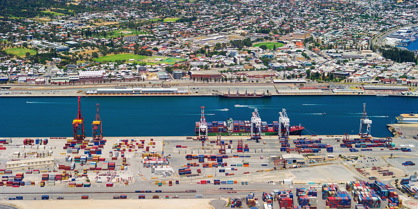 fremantle-port-aerial-sea-containers-cranes