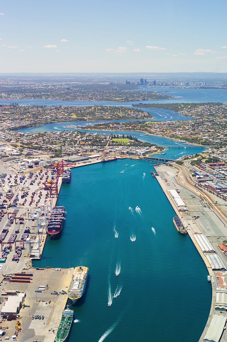 fremantle-port-swan-river-perth-aerial