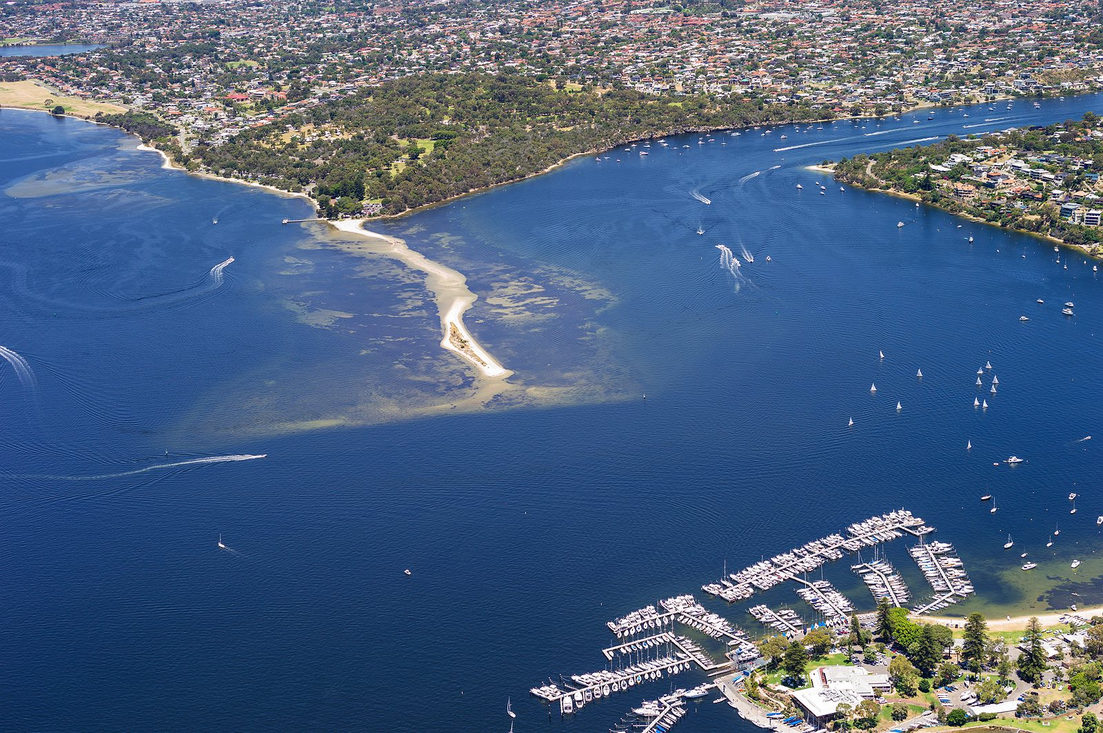 point-walter-swan-river-aerial-perth