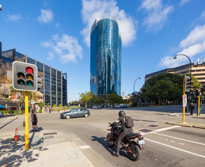 capital-square-perth-motorcyclist-traffic
