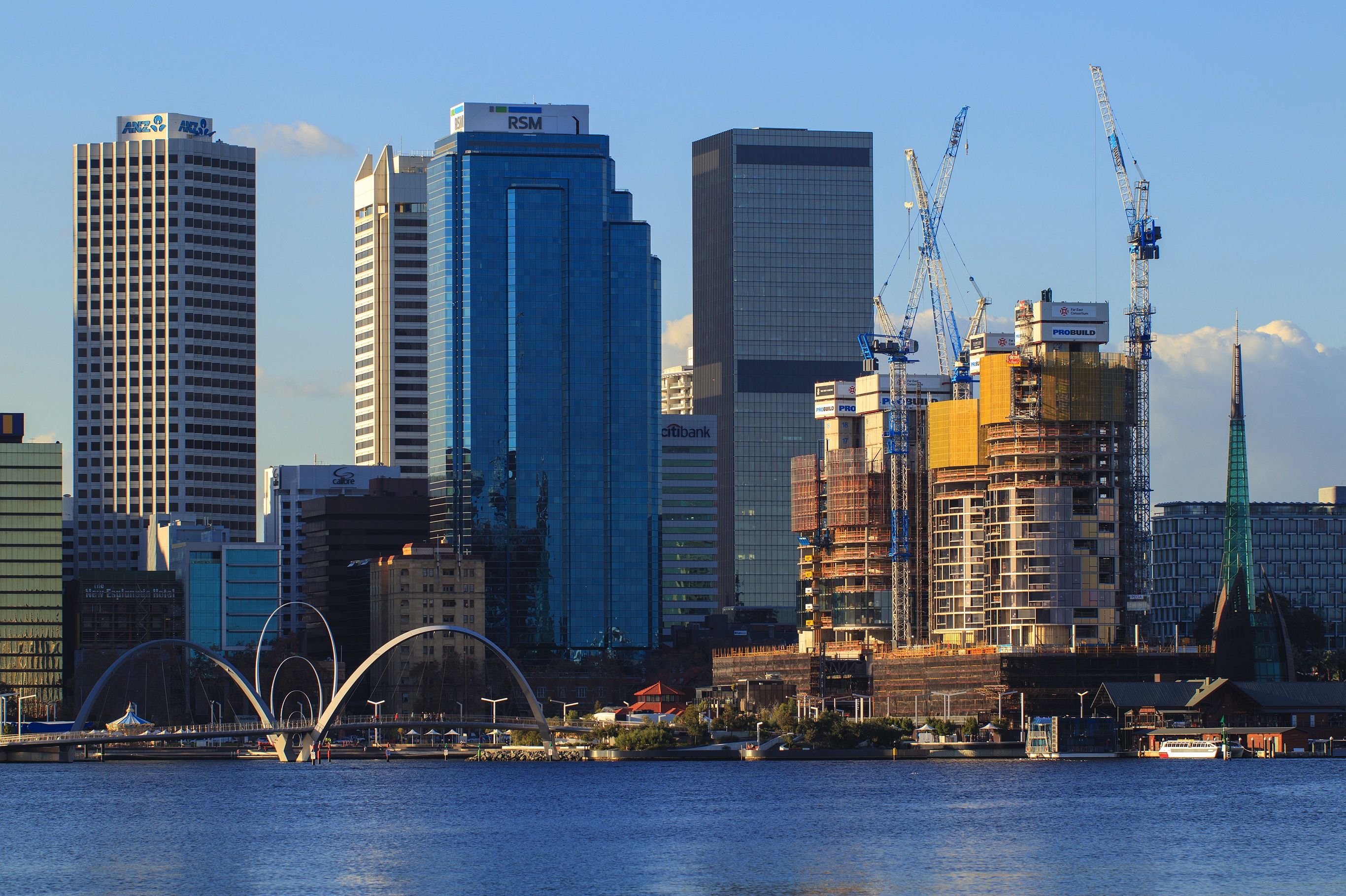 June 2018 Views of the Ritz Carlton construction across the Swan River